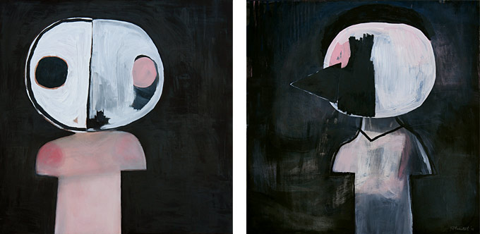 57cm x 57cm(each), oil on paper